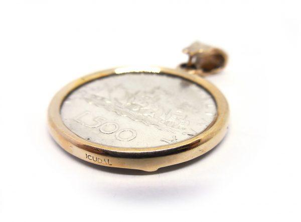 "Pendente ICUDAL ""500 Lire"" bronzo"