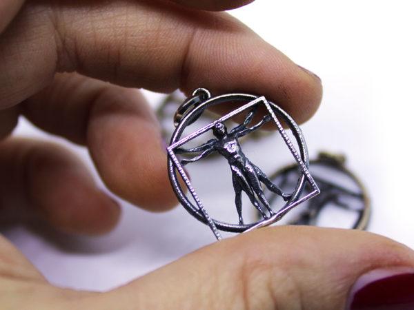 uomo vitruviano icudal leonardo da vinci gioielli arte