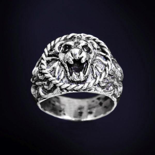 anello leone in argento icudal