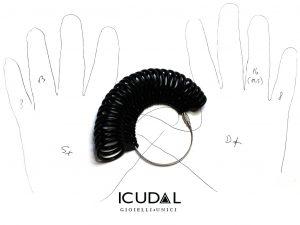 misura dito icudal anelli gioielli unici